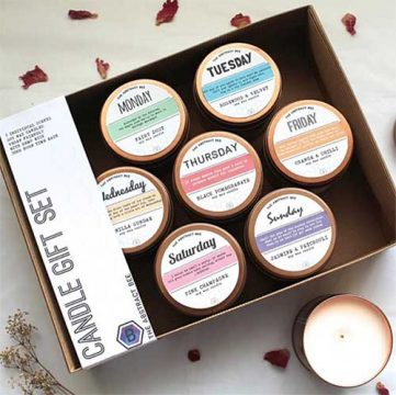 eco friendly gift ideas candle