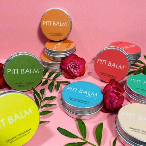 pitt balm natural deodorant collection