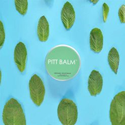 pitt balm natural deodorant with mint leafs