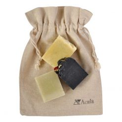 soap lovers gift set in linen bag