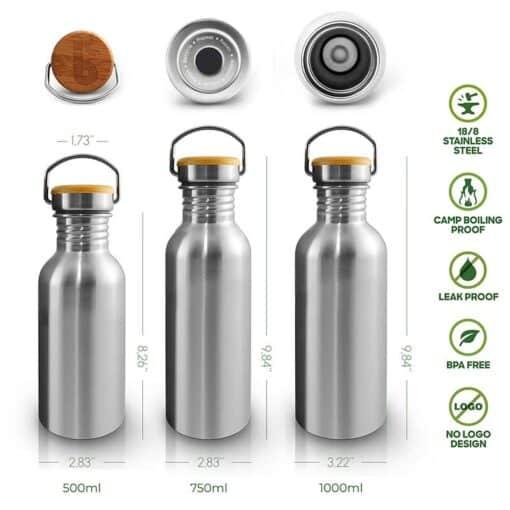 bambaw water bottle tech drawings