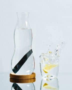 black and blum glass carafe