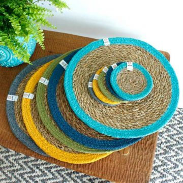 respiin tablemats and coasters