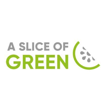 a slice of green brand logo