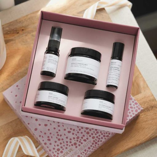evolve beauty gift set facial in a box