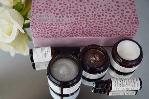 facial in a box evolve beauty gift set
