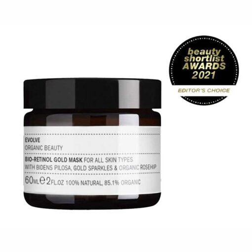 evolve bio retinol gold face mask with awards