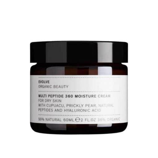 Evolve Multi-Peptide 360 Moisture Cream in glass jar