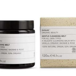 evolve gentle cleansing melt next to packaging