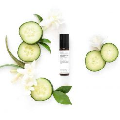 Evolve Hyaluronic Eye Complex lifestyle shot with cucumbers