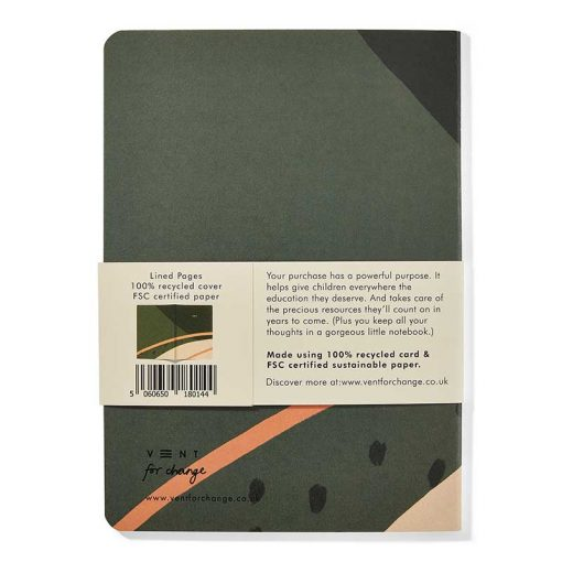 rearside of a5 recycled notebook