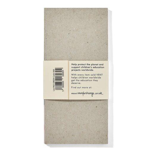 list pad reverse side
