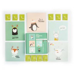 recycled multipack christmas cards with cute animal designs