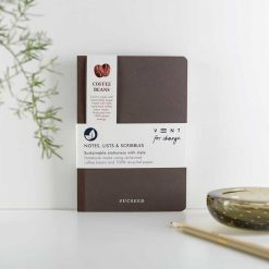 reclaimed coffee beans sucseed notebook