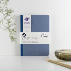 lavender flower recycled notebook