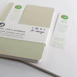 recycled kiwi fruit notebook