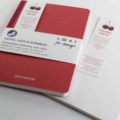 recycled notebook made with reclaimed cherry hush
