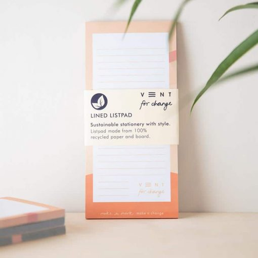 pink recycled paper list pad