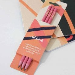 recycled pink pencils