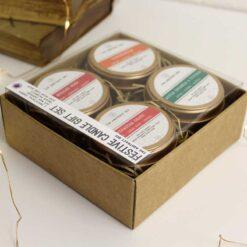 soy wax christmas candle gift set