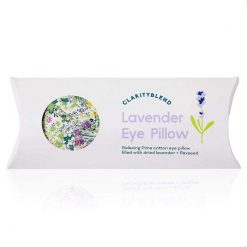 bright floral eye pillow in packaging