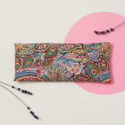 red paisley eye pillow with lavender