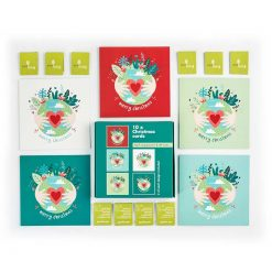 eco earth recycled multipack christmas cards