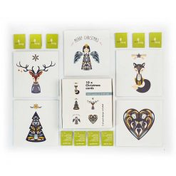 scandinavian recycled multipack christmas cards