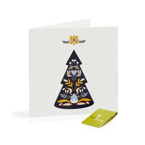 christmas tree xmas card