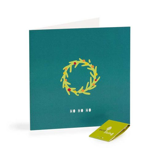 wreath xmas card