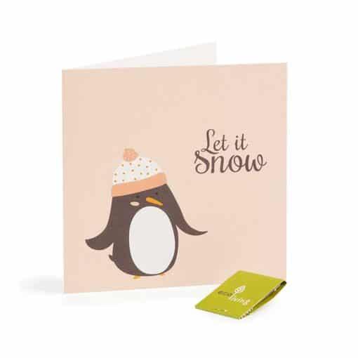 penguin xmas card