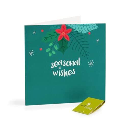 seasonal wishes xmas card
