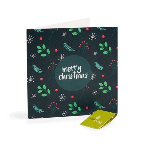 merry christmas dark card