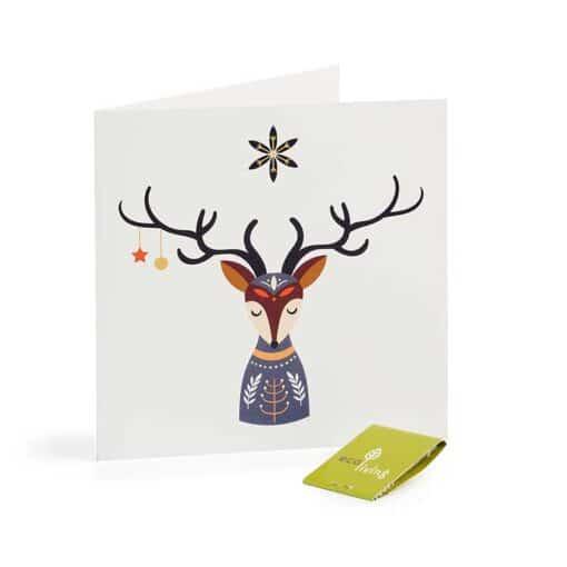 deer xmas card