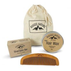 sustainable mens hair gift set from rugged nature