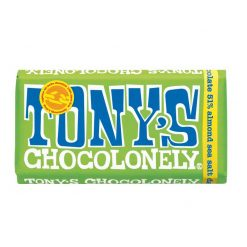 tonys chocolonely dark almond and sea salt chocolate bar